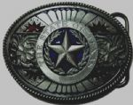 The State of Texas Belt Buckle + display stand. Code TP2